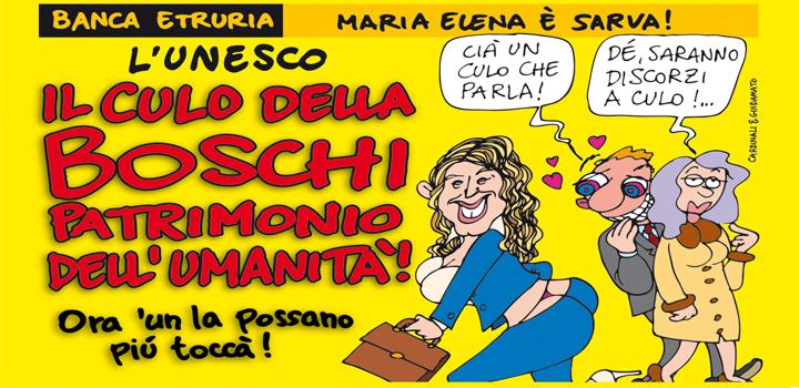 L'UNESCO: IL CULO DELLA BOSCHI PATRIMONIO DELL'UMANITÀ