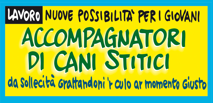 ACCOMPAGNATORI DI CANI STITICI