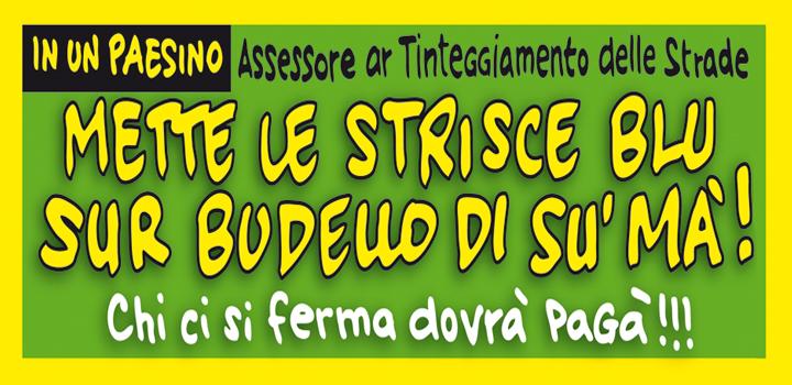 METTE LE STRISCE BLU <br/>SUR BUDELLO DI SU' MA'!