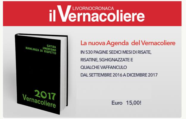 Il nuovo Diario/Agenda 2017 de Vernacoliere