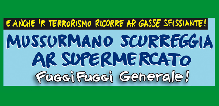 MUSSURMANO <br/>SCURREGGIA <br/>AR SUPERMERCATO!