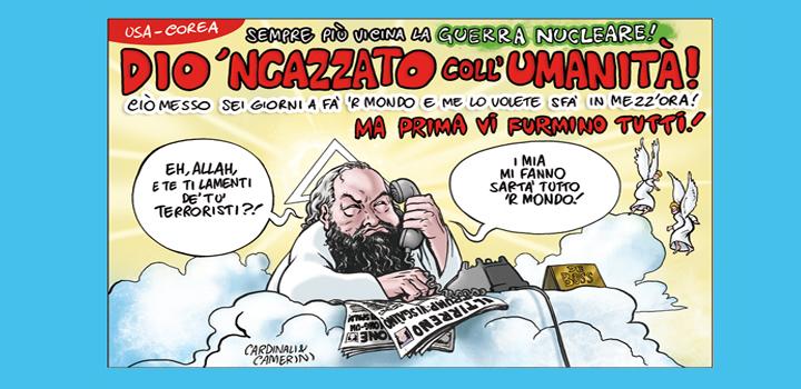 DIO 'NCAZZATO <br/>COLL'UMANITÀ