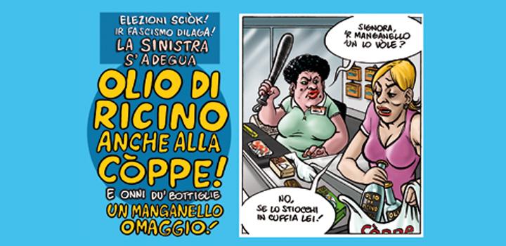 OLIO  DI RICINO<br/>ANCHE ALLA <br/>CÒPPE!