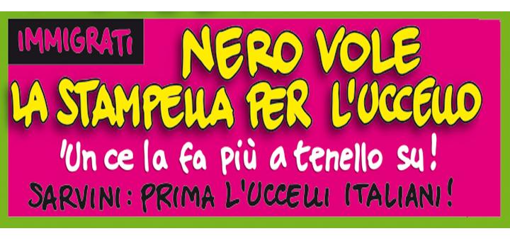 NERO VOLE LA STAMPELLA  PER L'UCCELLO!
