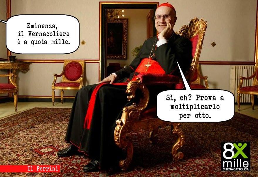 La vignetta di Ettore Ferrini per il N° 1000 del Vernacoliere