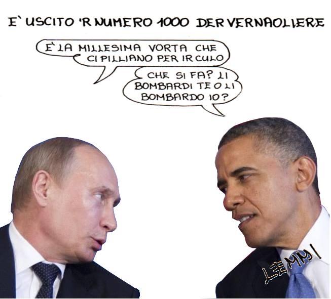 La vignetta di Giuliano Lemmi per il n° 1000 del Vernacoliere