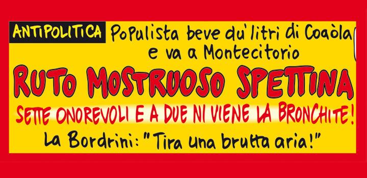 GIGANTESCO RUTO <br/>SPETTINA SETTE ONOREVOLI