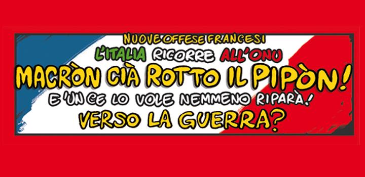 MACRÒN <br/>CIÀ ROTTO <br/>IL PIPÒN!