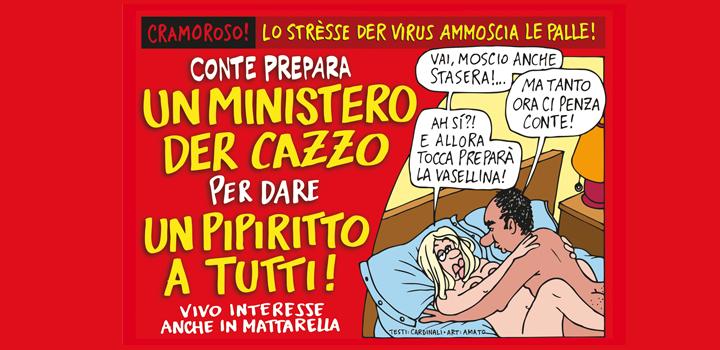 UN MINISTERO <br/>DER CAZZO <br/>PER DARE UN <br/>PIPIRITTO A TUTTI!